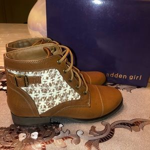 Madden Girls leather ankle boots